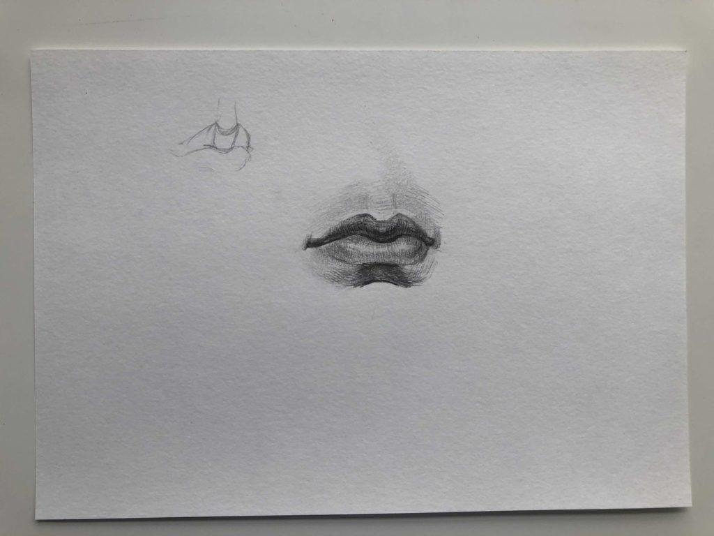 Как нарисовать губы полубоком - этап 4 - фото