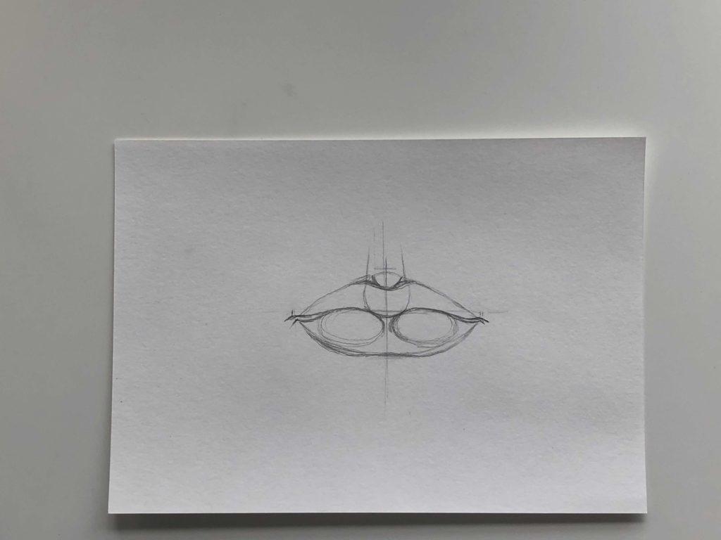 Простой способ нарисовать пухлые губы - этап 2 - фото
