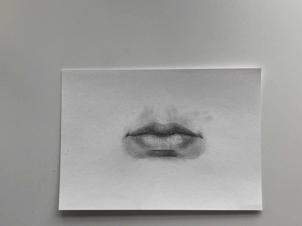 Простой способ нарисовать пухлые губы - этап 4 - фото