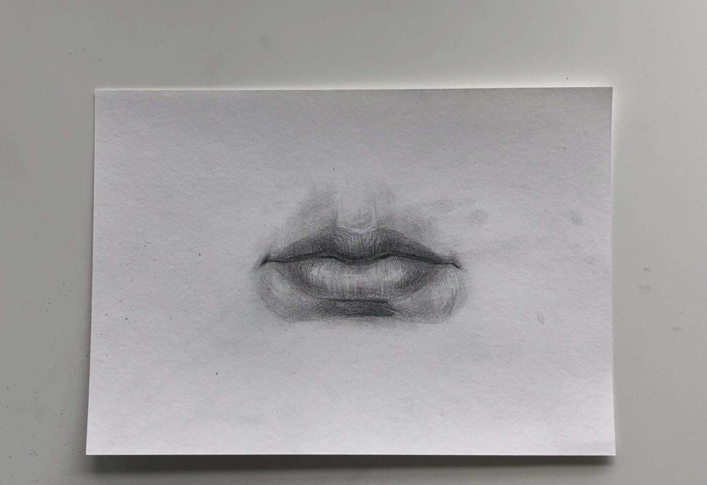 Простой способ нарисовать пухлые губы - этап 5 - фото