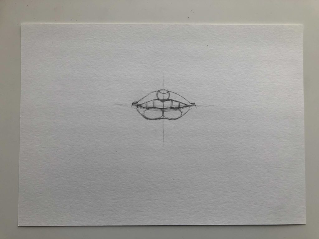 Как нарисовать губы с зубами - этап 2 - фото