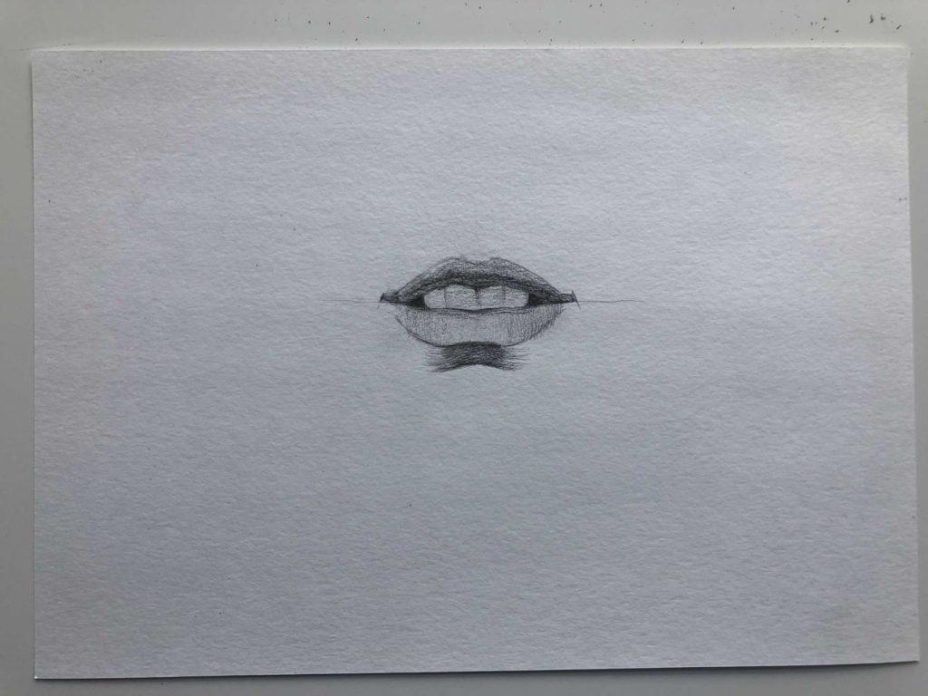 Как нарисовать губы с зубами - этап 3 - фото