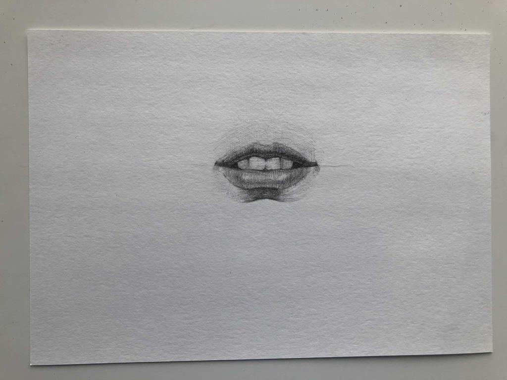 Как нарисовать губы с зубами - этап 4 - фото