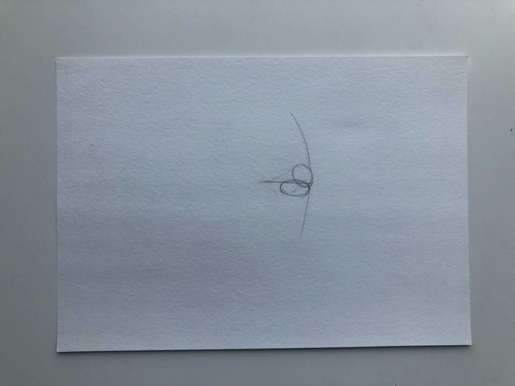 Как нарисовать губы в профиль - этап 1 - фото