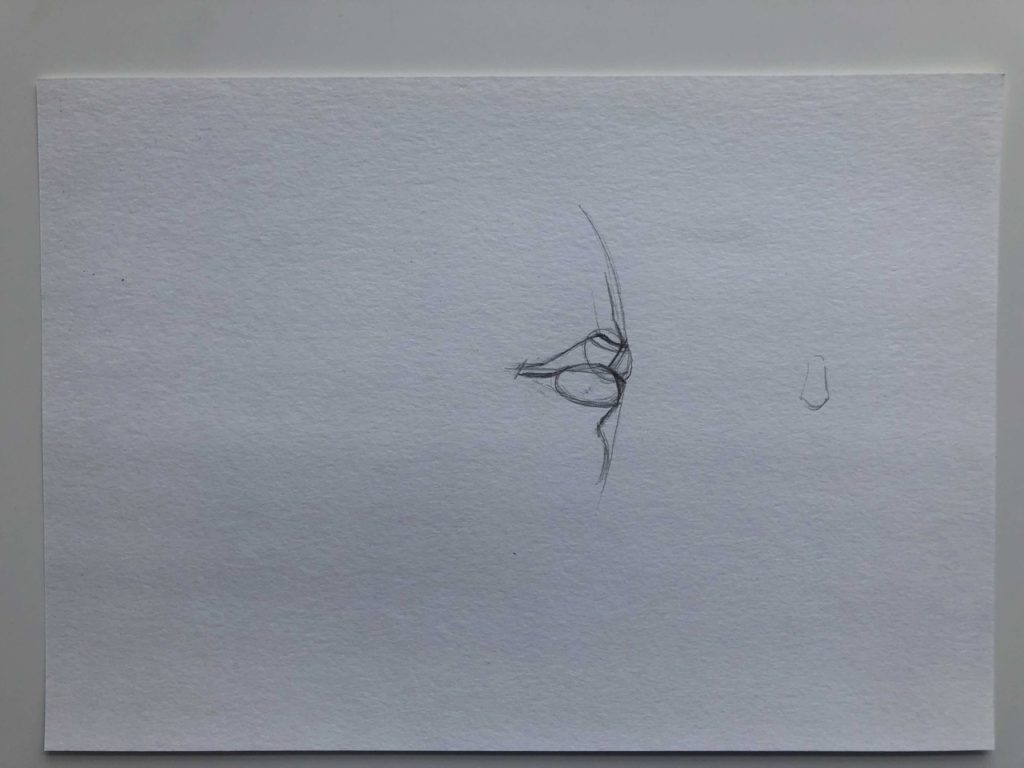 Как нарисовать губы в профиль - этап 2 - фото