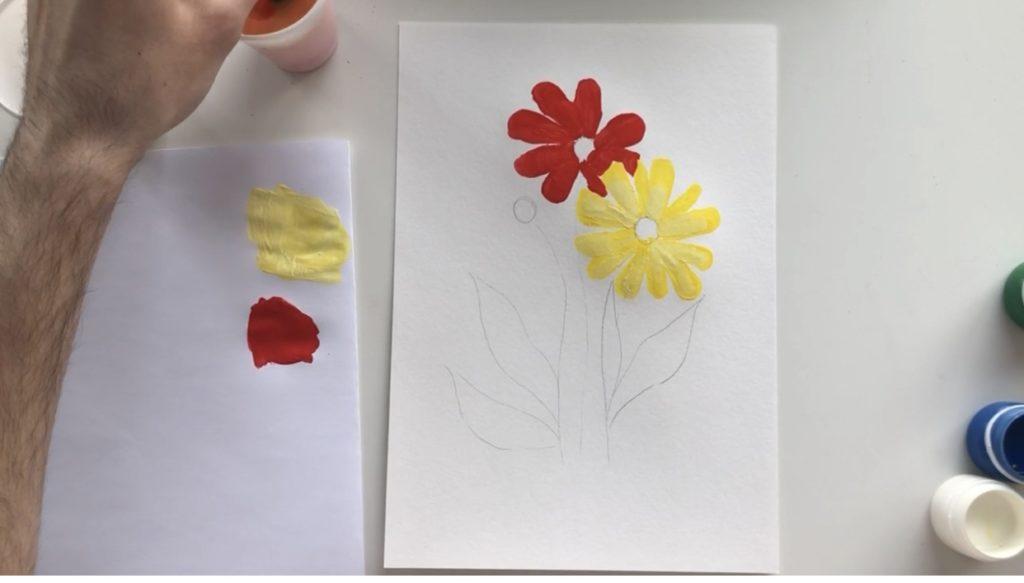 Как научиться рисовать цветы гуашью - этап 2 - фото 6