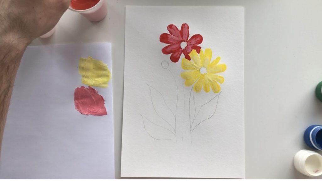 Как научиться рисовать цветы гуашью - этап 2 - фото 7