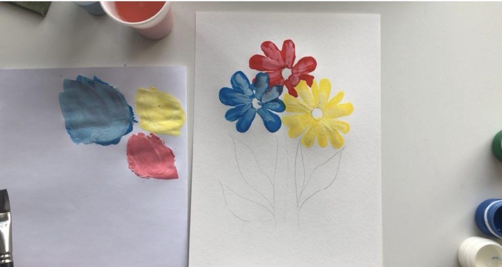 Как научиться рисовать цветы гуашью - этап 2 - фото 9