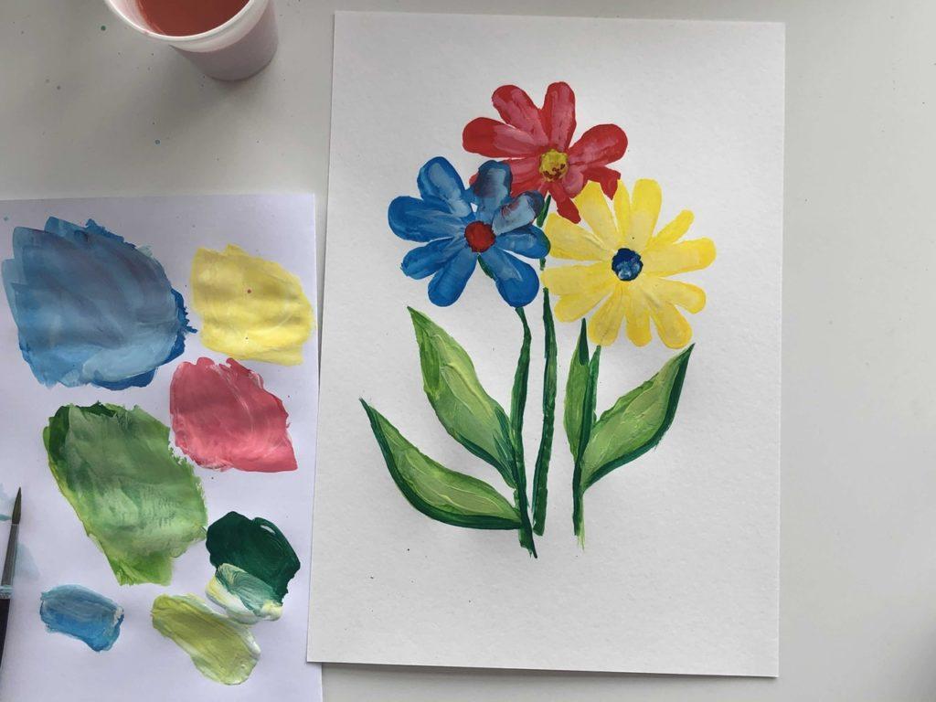 Как научиться рисовать цветы гуашью - этап 3 - фото 1