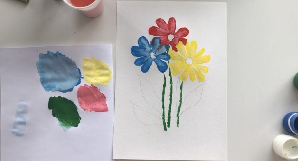 Как научиться рисовать цветы гуашью - этап 3 - фото 3