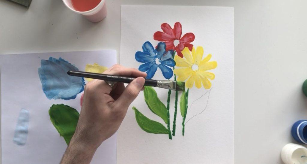 Как научиться рисовать цветы гуашью - этап 3 - фото 5