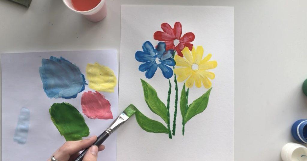 Как научиться рисовать цветы гуашью - этап 3 - фото 7