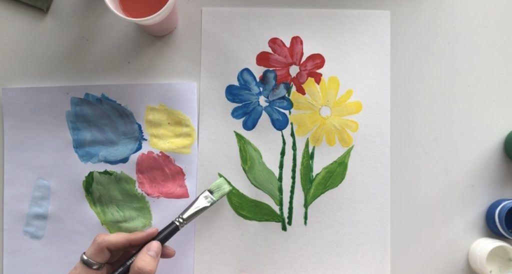 Как научиться рисовать цветы гуашью - этап 3 - фото 8