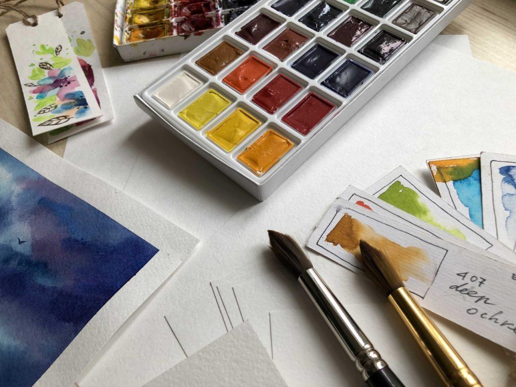 Состав акварельных красок - фото