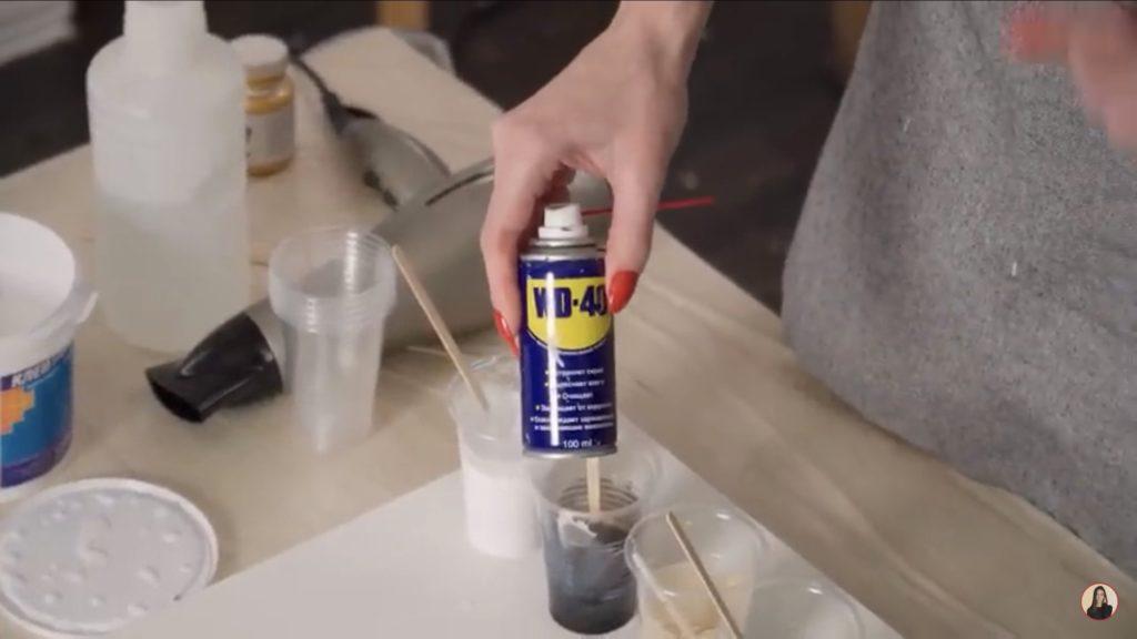 Техника рисования флюид-арт - добавление силикона - фото