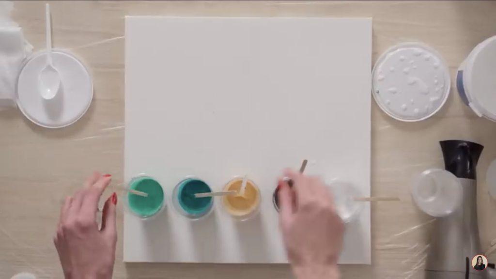 Техника рисования флюид-арт - подготовка - фото