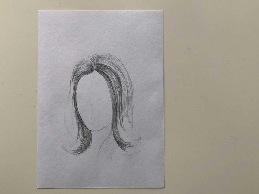 Как нарисовать длинные распущенные волосы - этап 2