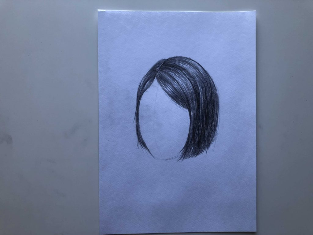 Как нарисовать короткие волосы - этап 3