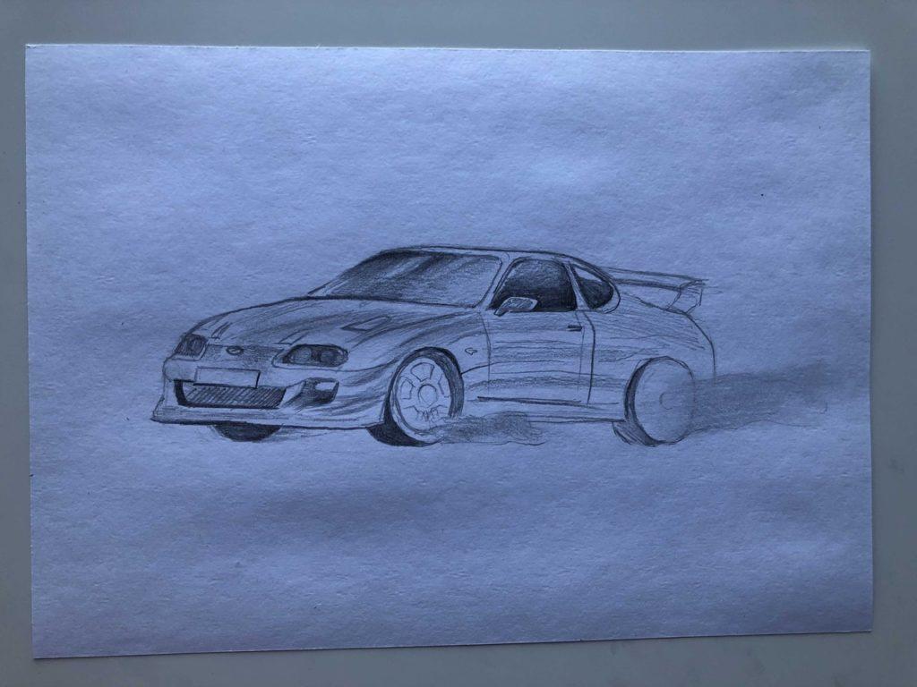Как нарисовать машину в дрифте - этап 3
