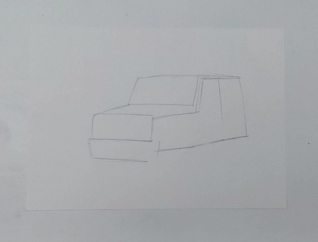 Как нарисовать джип - этап 1