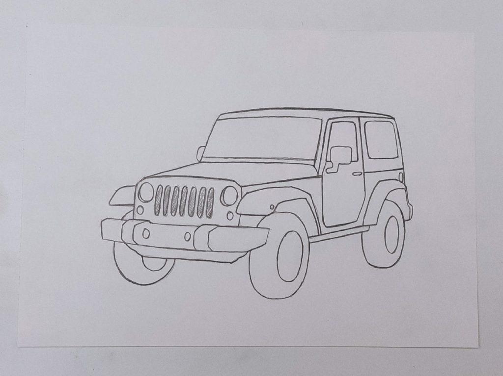 Как нарисовать джип - этап 3