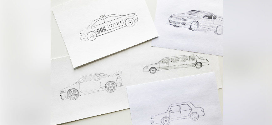 Как нарисовать машину карандашом - фото