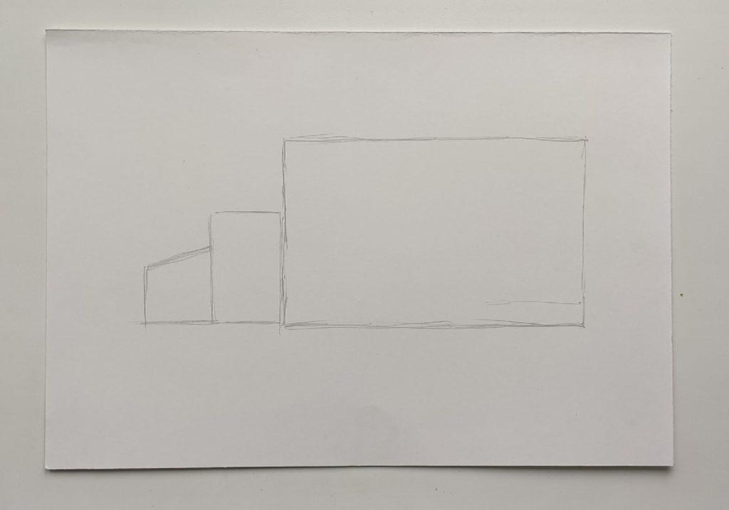 Как нарисовать грузовик - этап 1