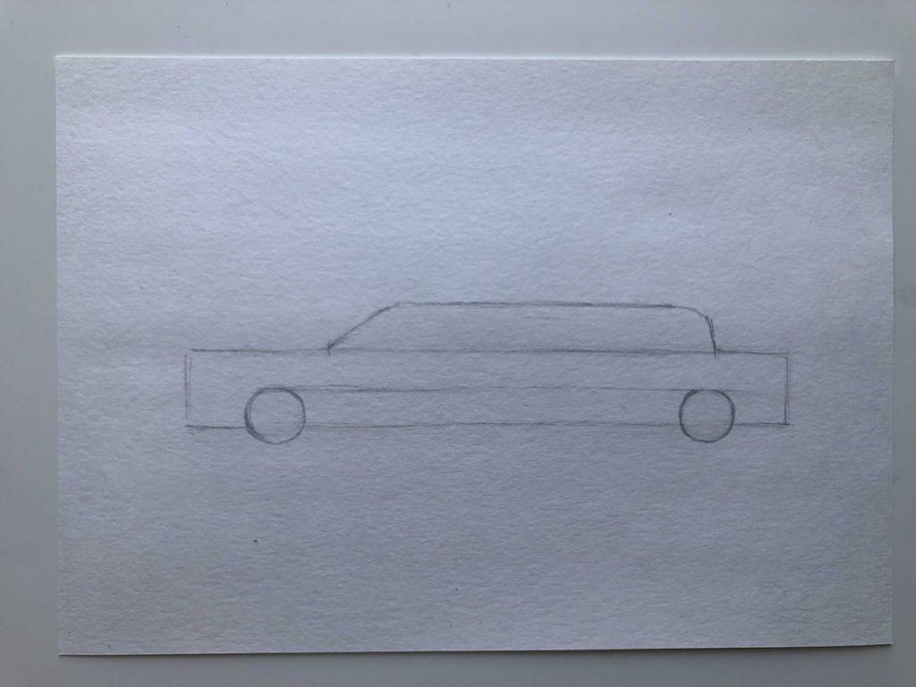 Как нарисовать лимузин - этап 1