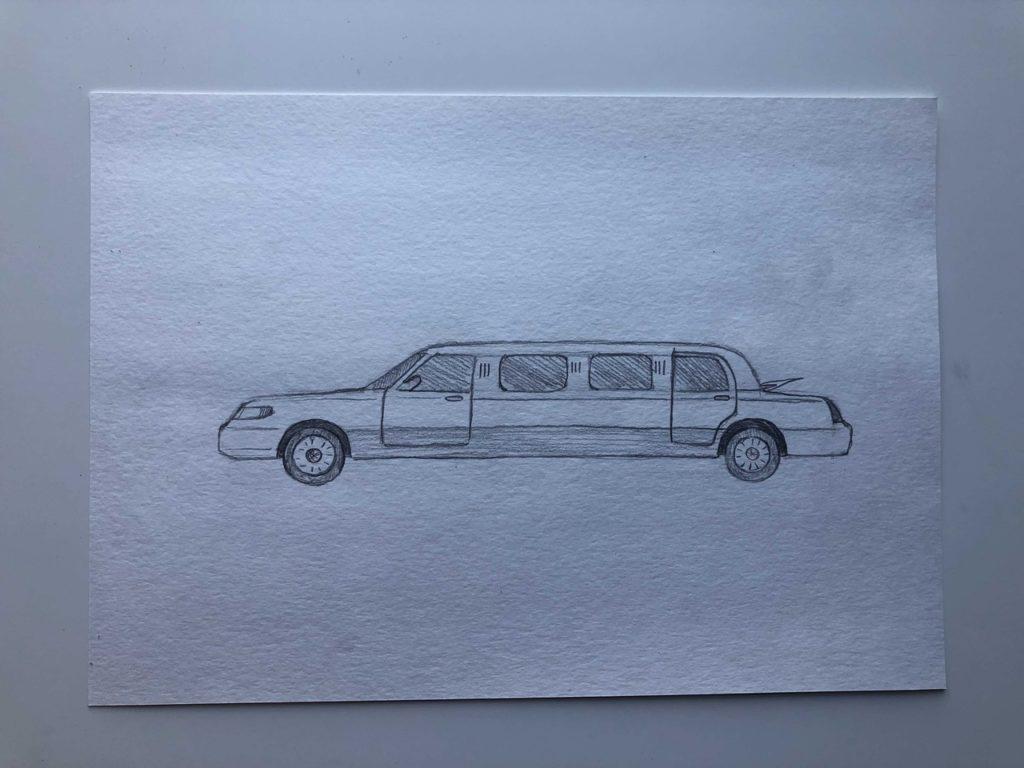 Как нарисовать лимузин - этап 3