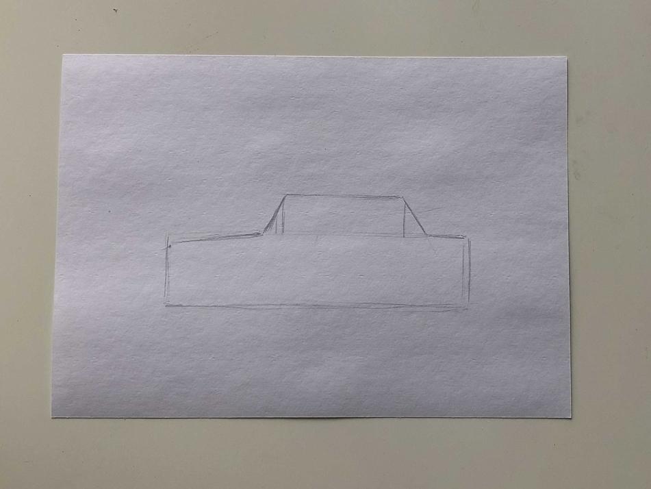 Простой способ нарисовать машину - этап 1