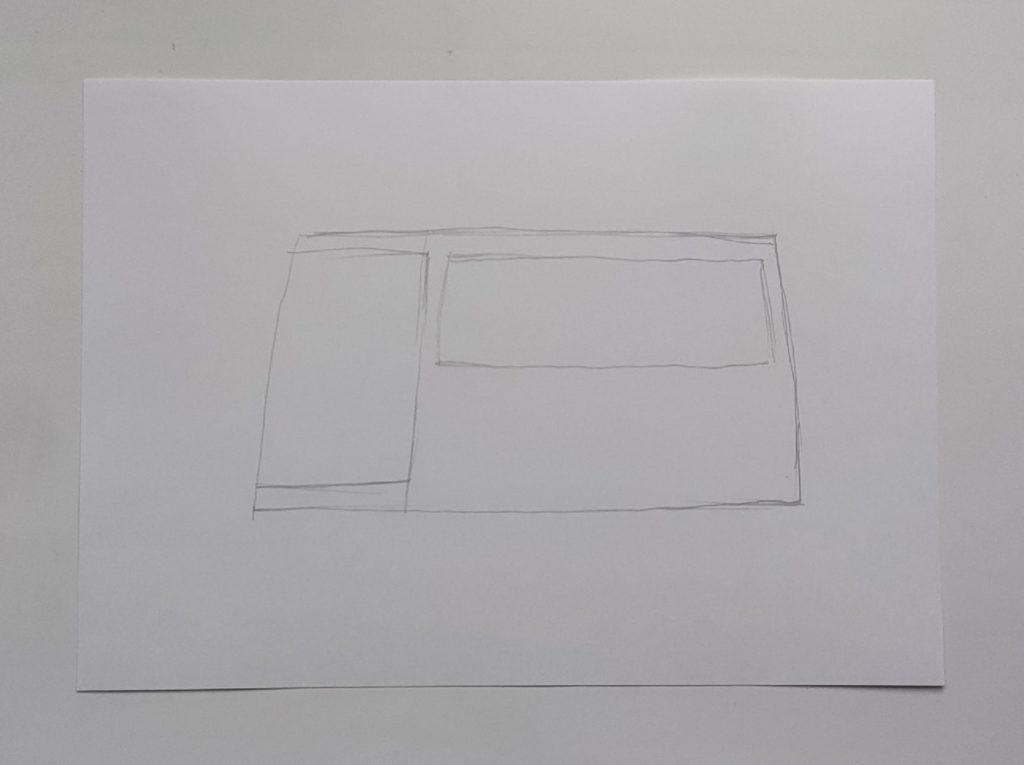 Как нарисовать микроавтобус - этап 1
