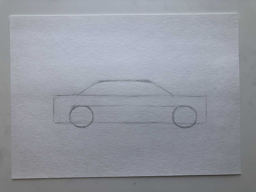 Как нарисовать такси - этап 1
