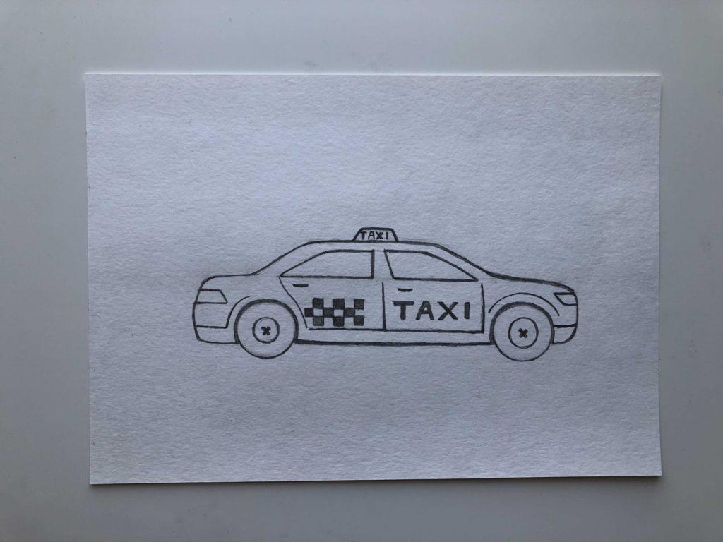Как нарисовать такси - этап 3