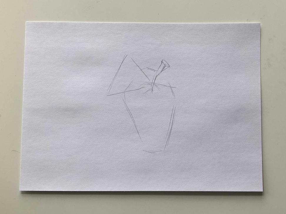 Как нарисовать виноград карандашом - простой способ - 1 этап