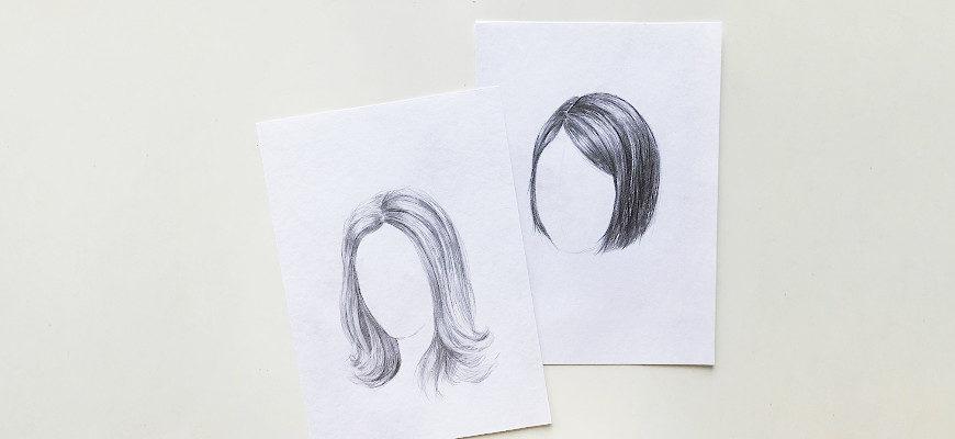 Как нарисовать волосы карандашом - фото