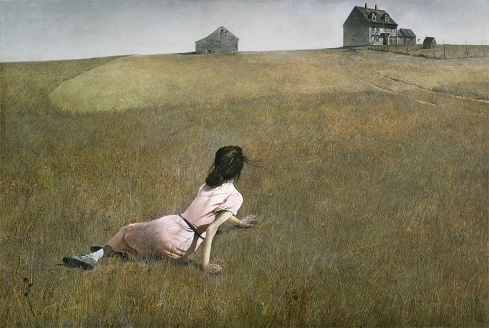 Известные картины в серых тонах - Эндрю Уайет - фото