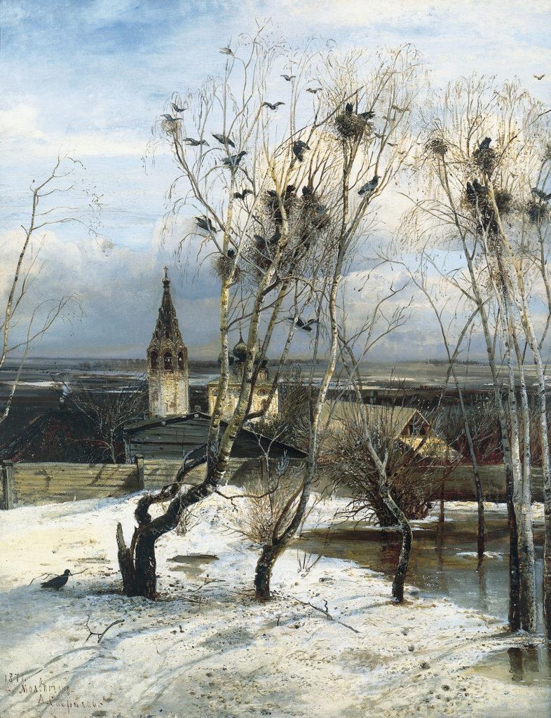 Великие русские художники-пейзажисты - «Грачи прилетели», Алексей Саврасов - фото