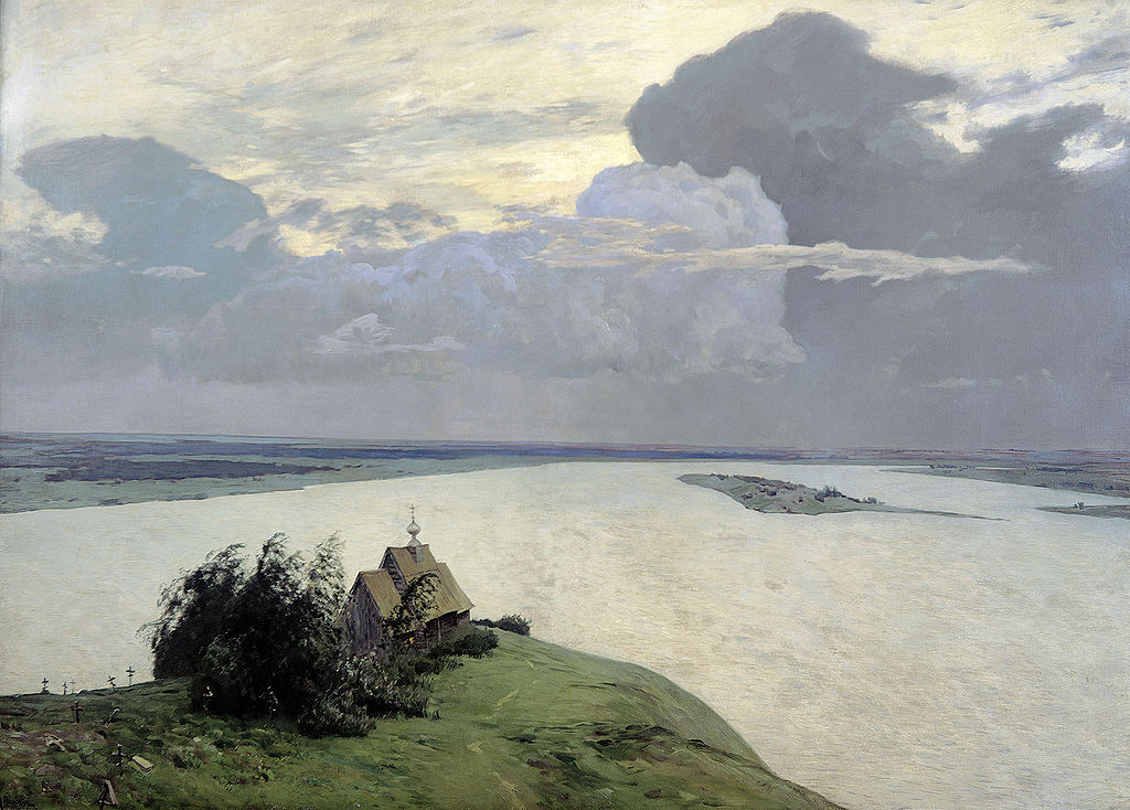 Великие русские художники-пейзажисты - «Над вечным покоем», Исаак Левитан - фото
