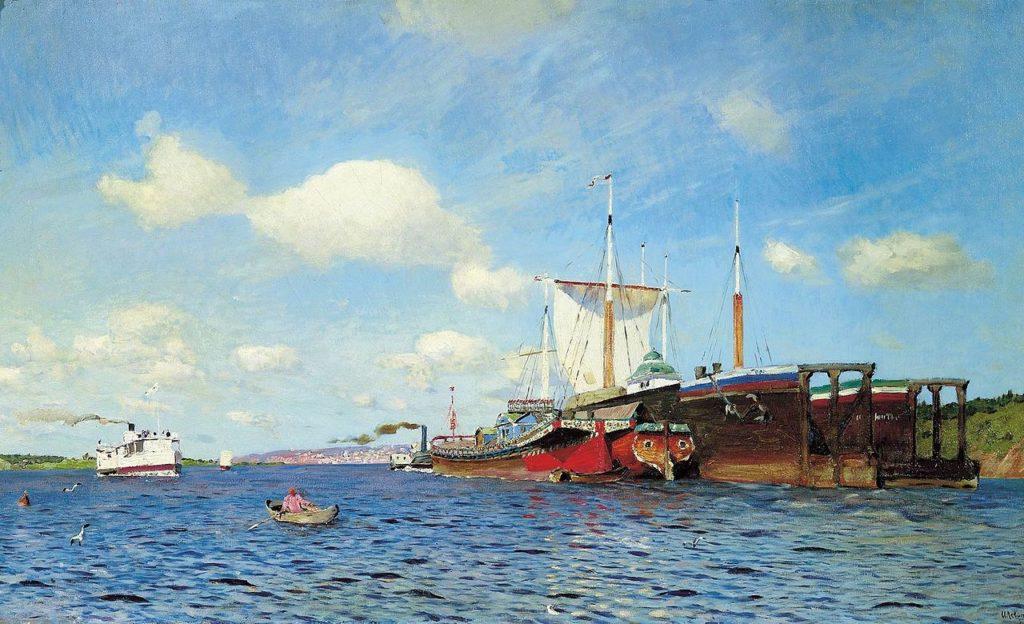 Великие русские художники-пейзажисты - «Свежий ветер. Волга», Исаак Левитан - фото