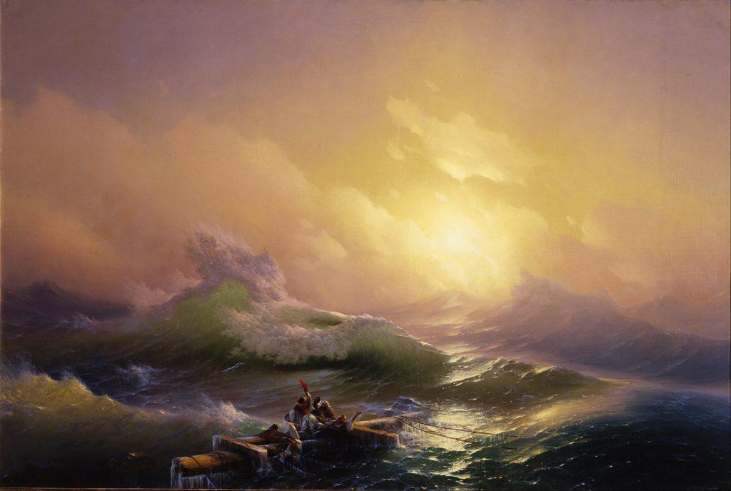Великие русские художники-пейзажисты - «Девятый вал», Иван Айвазовский - фото