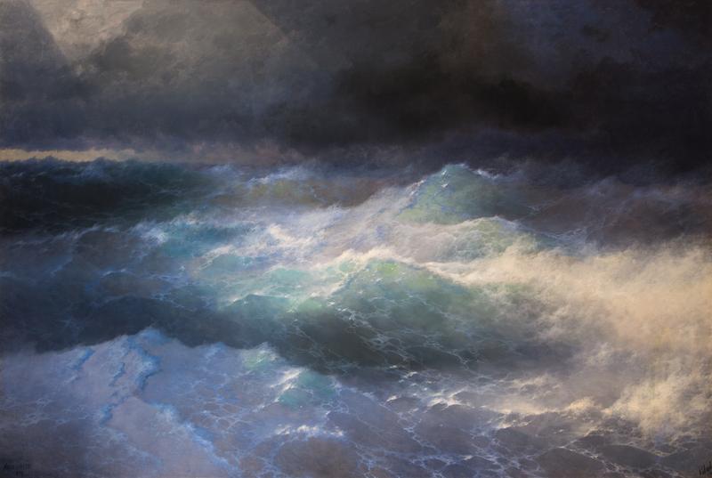 Великие русские художники-пейзажисты - «Среди волн», Иван Айвазовский - фото