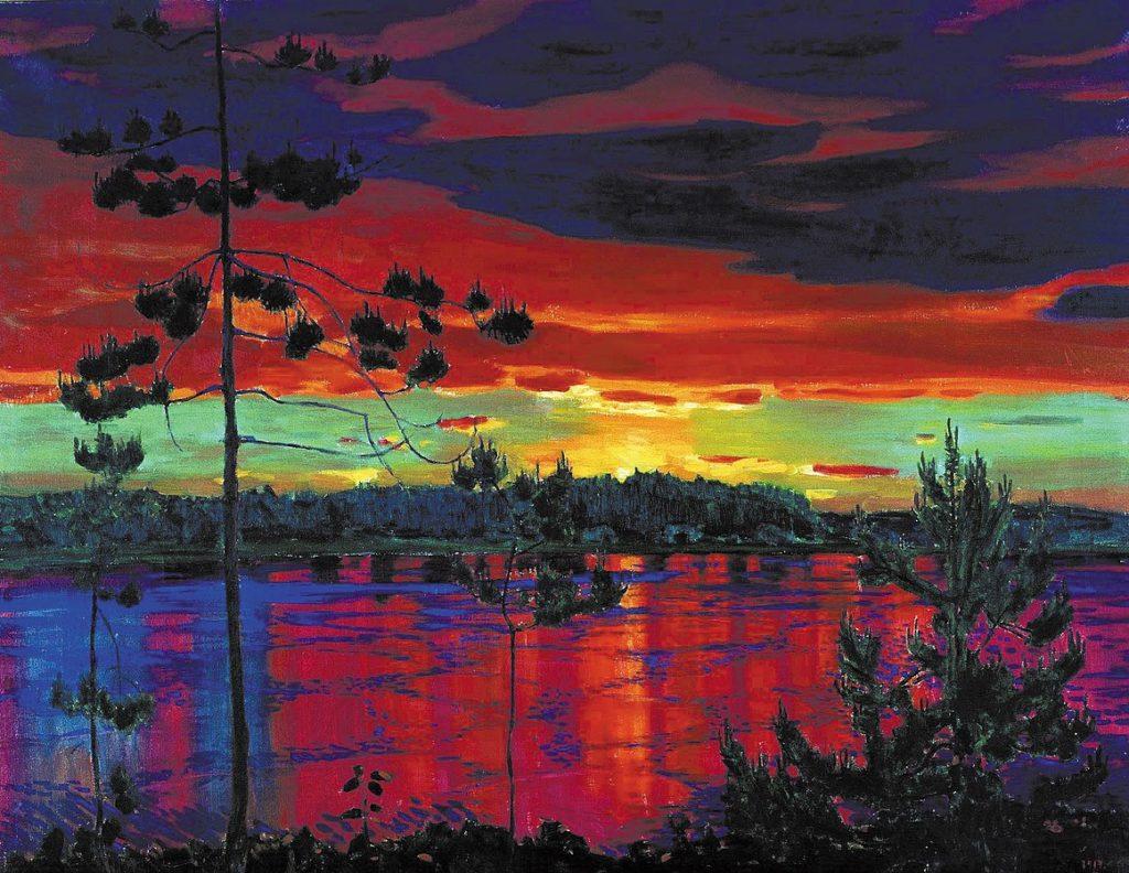 Великие русские художники-пейзажисты - Аркадий Рылов, «Закат» - фото