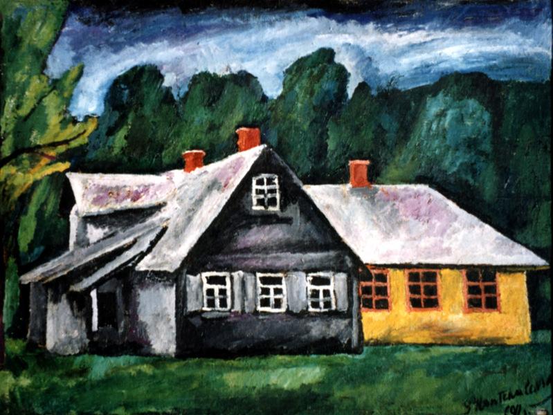 Великие русские художники-пейзажисты - Петр Кончаловский, «Пейзаж» - фото
