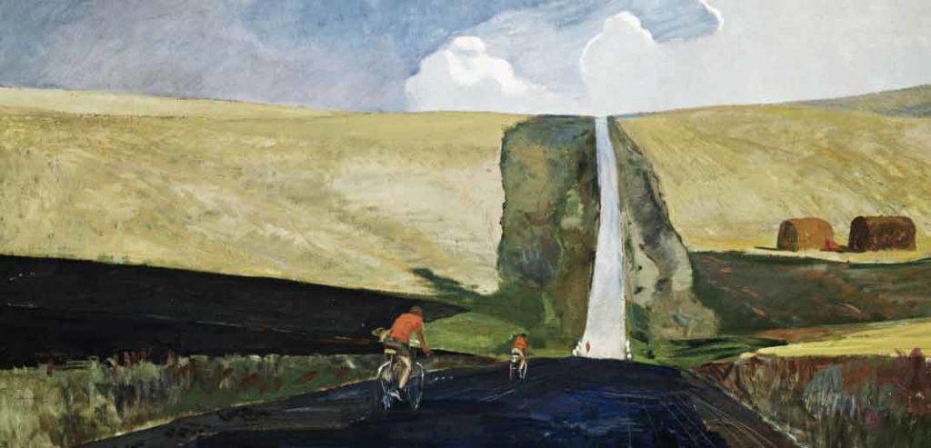 Великие русские художники-пейзажисты - Александр Дейнека, «Дорога на юг» - фото