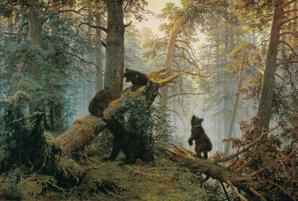 Великие русские художники-пейзажисты - «Утро в сосновом лесу», Иван Шишкин - фото