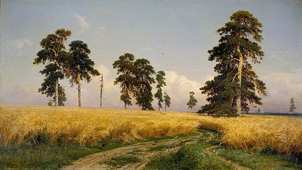 Великие русские художники-пейзажисты - «Рожь», Иван Шишкин - фото