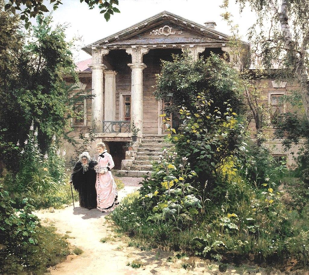 Великие русские художники-пейзажисты - «Бабушкин сад», Василий Поленов - фото
